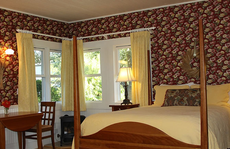 Cottage bedroom at Case Ranch Inn.