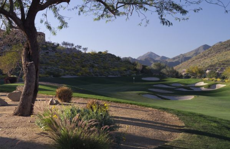 The 12th hole at the golf course at Inn at Eagle Mountain.