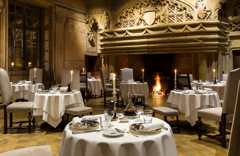 Dining at Château de Bagnols.
