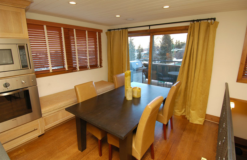 Rental dining area at Frias Properties of Aspen - Shadow Mountain #1.