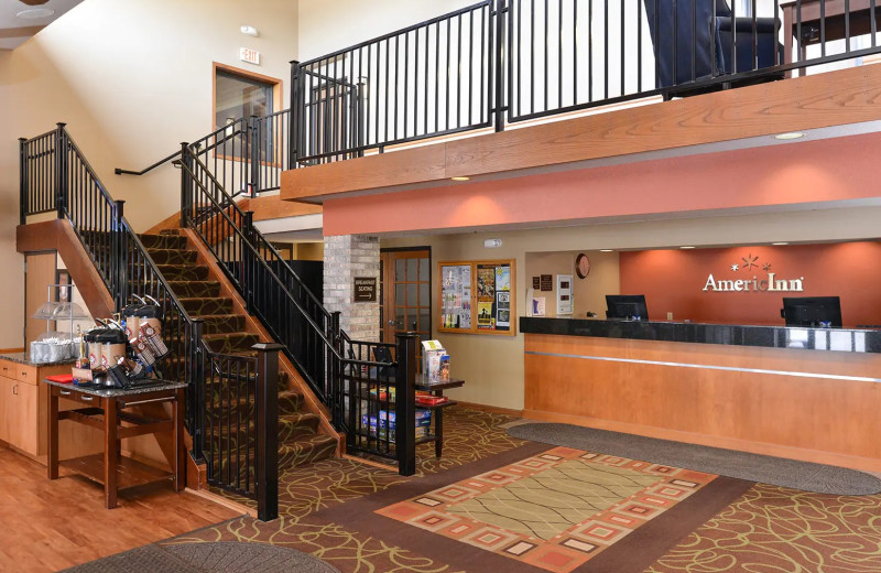 Reception at AmericInn by Wyndham.