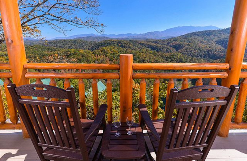 Rental deck view at Smoky Mountains Vacation Cabins, LLC.