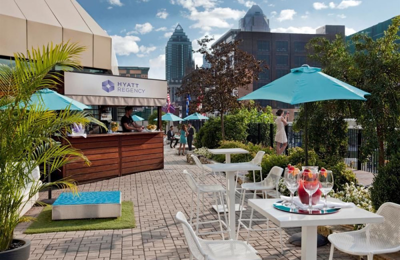 Patio at Hyatt Regency Montreal.