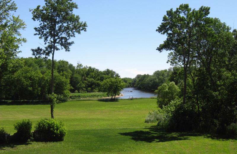 Grounds at Red Cedar Lodge.