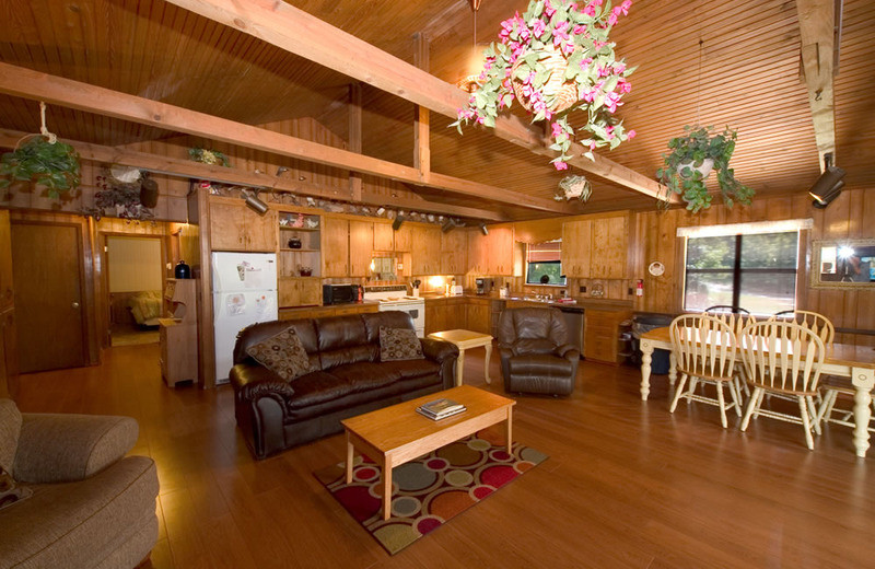 Cottage interior at Norfork Resort & Trout Dock.