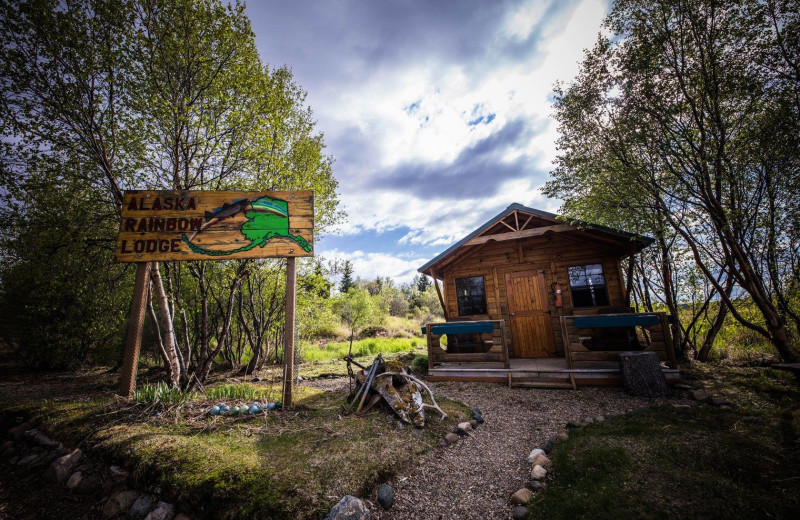 Old cabin at Alaska Rainbow Lodge.