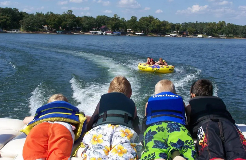 Tubing at The Lodge on Otter Tail Lake.