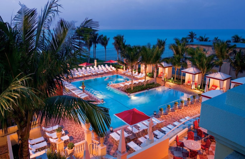 Outdoor pool at Acqualina A Rosewood Resort.