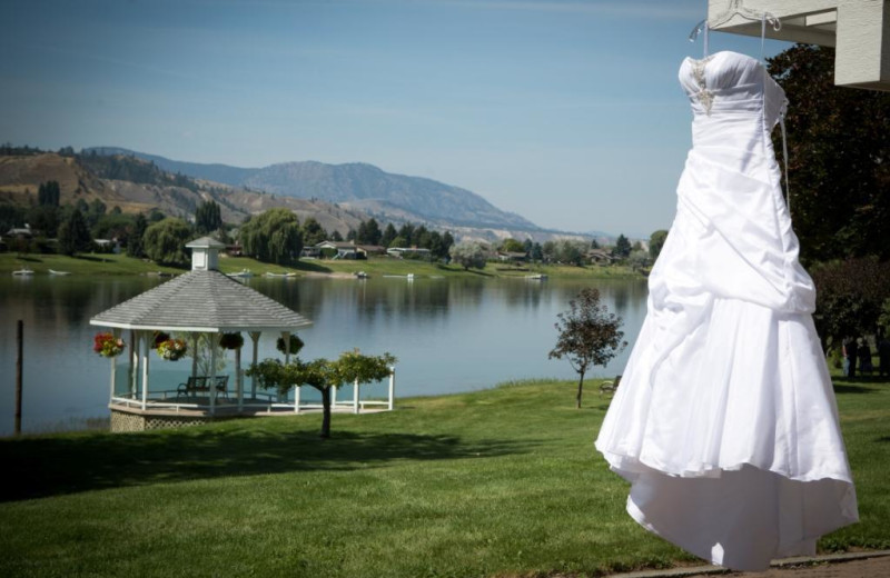 Wedding gown at South Thompson Inn & Conference Centre.