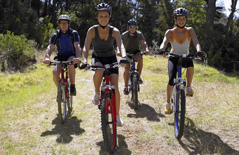 Biking at Stoneridge Resort.