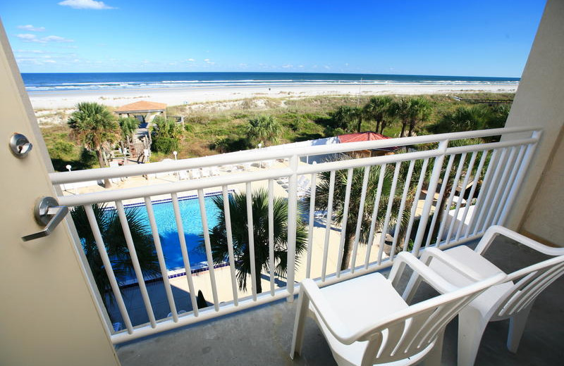 Private balcony at Holiday Isle Oceanfront Resort.