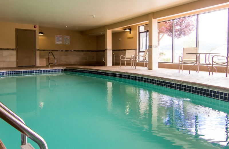Indoor pool at Alpine Inn.