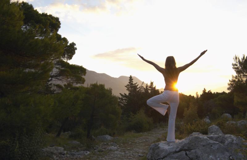 Yoga at Boulder Adventure Lodge.