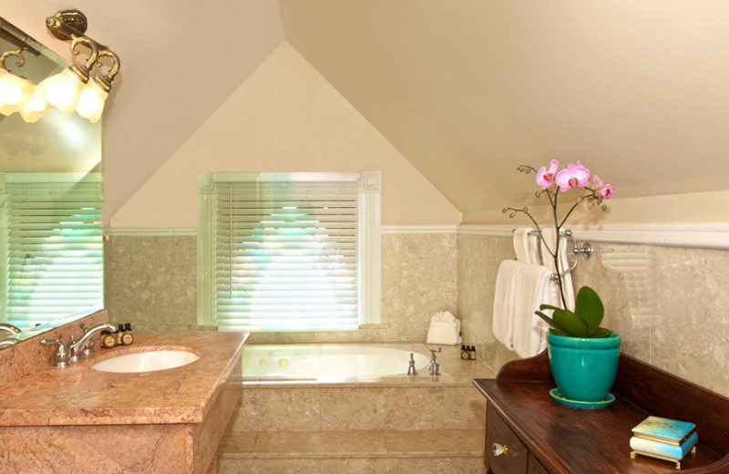 Guest bathroom at The Southernmost House.