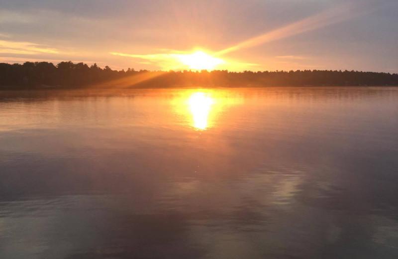 Lake sunset at Owls Nest Lodge.