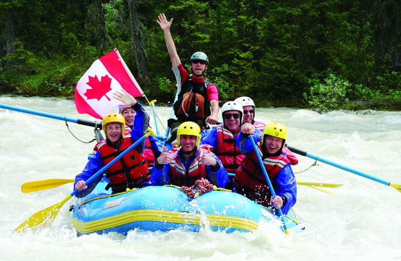 River rafting at Athabasca Hotel.