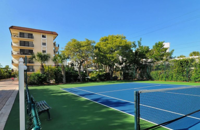 Tennis court at El Presidente Condos.