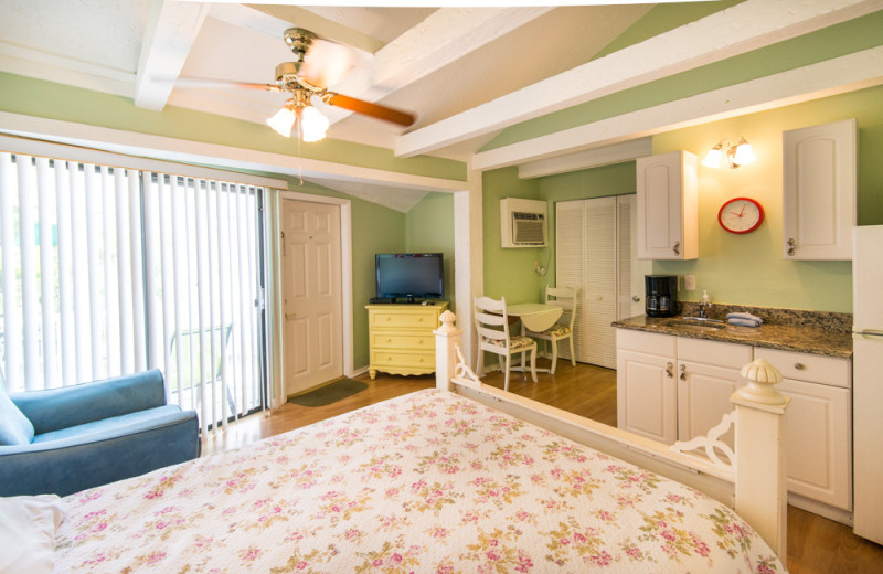 Guest room at Silver Sands Villas.