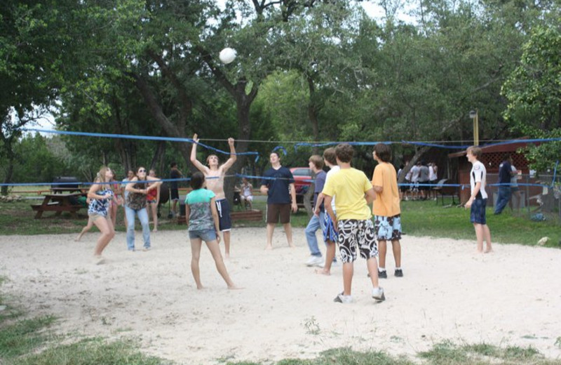 Volleyball at Canyon Lake Cabins & Cottages
