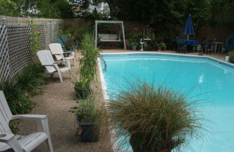 Outdoor pool at Colcord House Bed & Breakfast.