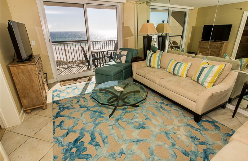 Living room at Holiday Isle Properties - Destin on the Gulf 505.