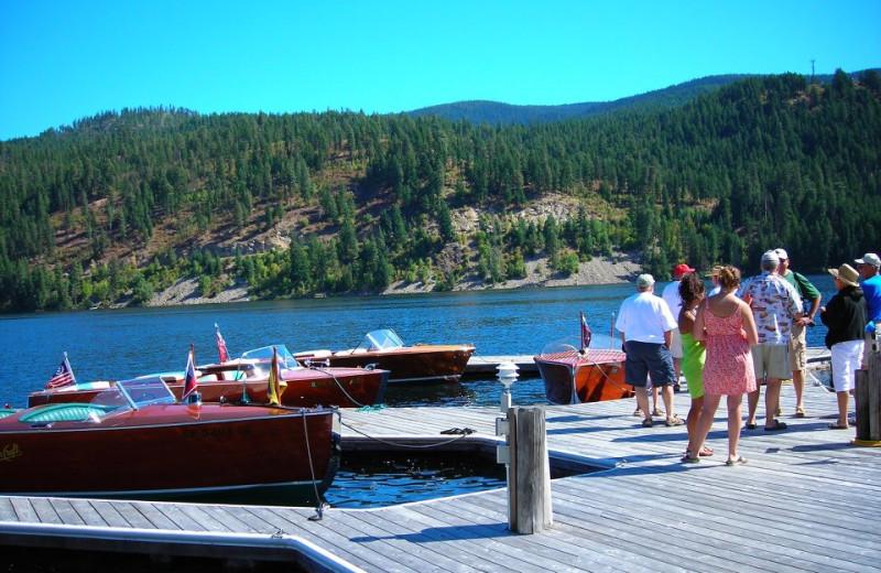 Boat dock at Blue Diamond Marina & Resort.