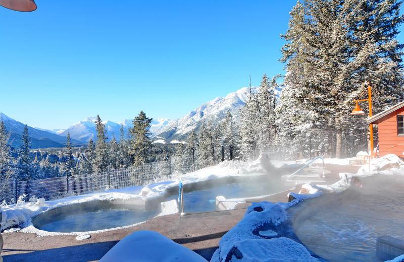 Winter pool at Hidden Ridge Resort.