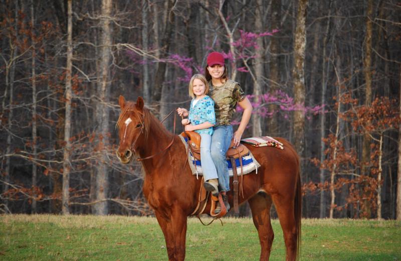 Horseback riding at Goodman Ranch.