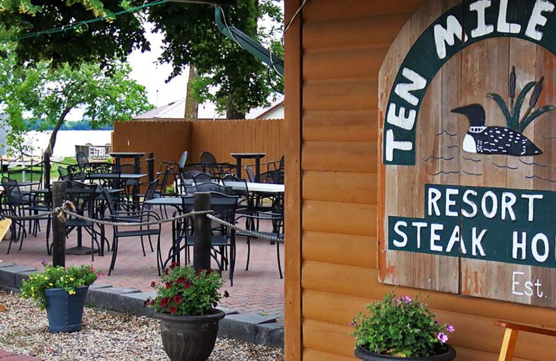 Dining near Rush Lake Tent and Trailer Park.