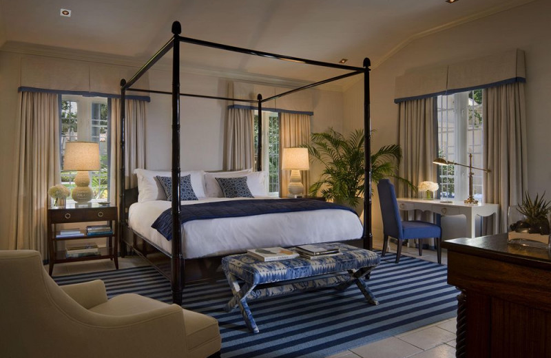 Cottage guest room at Fisher Island Hotel and Resort.