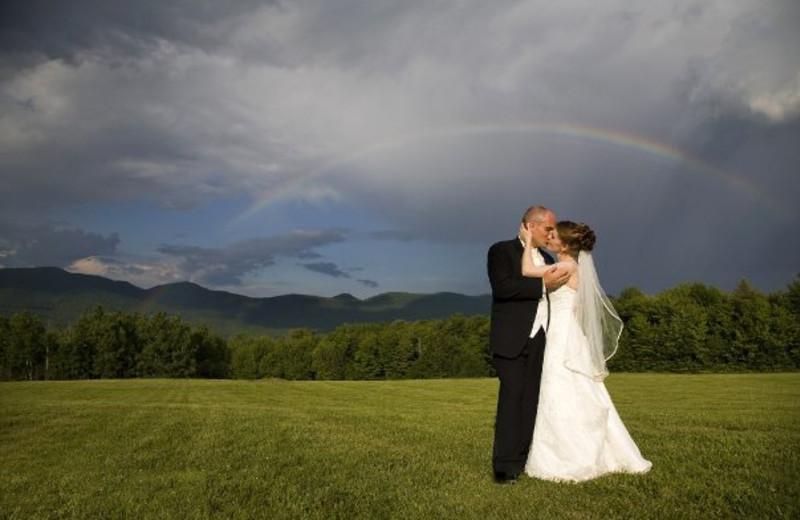 Wedding rainbow at The Mountain Top Inn & Resort.