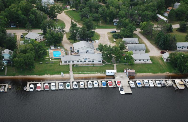 Aerial view of Ballard's Resort.