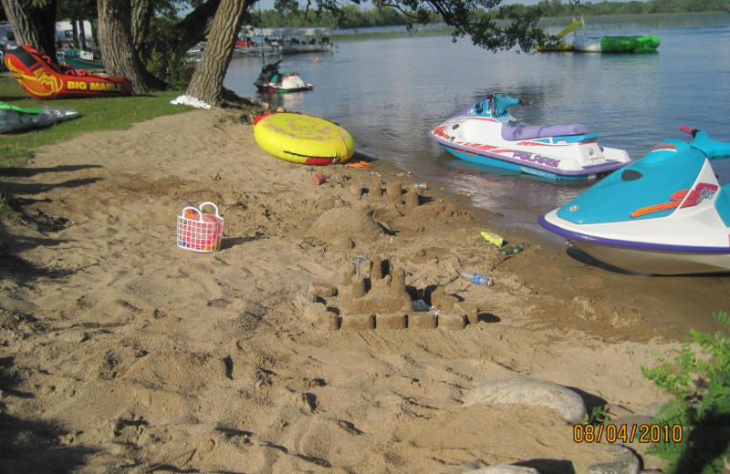 Beach at Brophy Lake Resort.