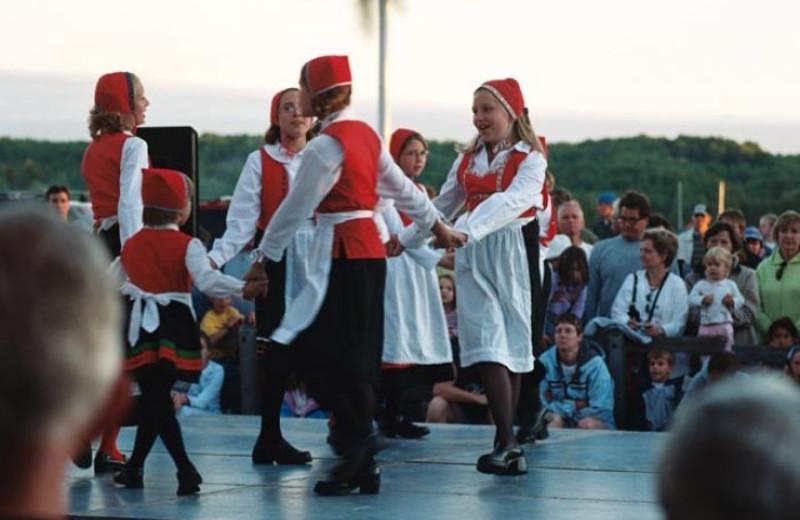Cultural dancing at Bay Breeze Resort.