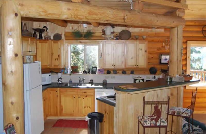 Cabin kitchen at Range Property Management.