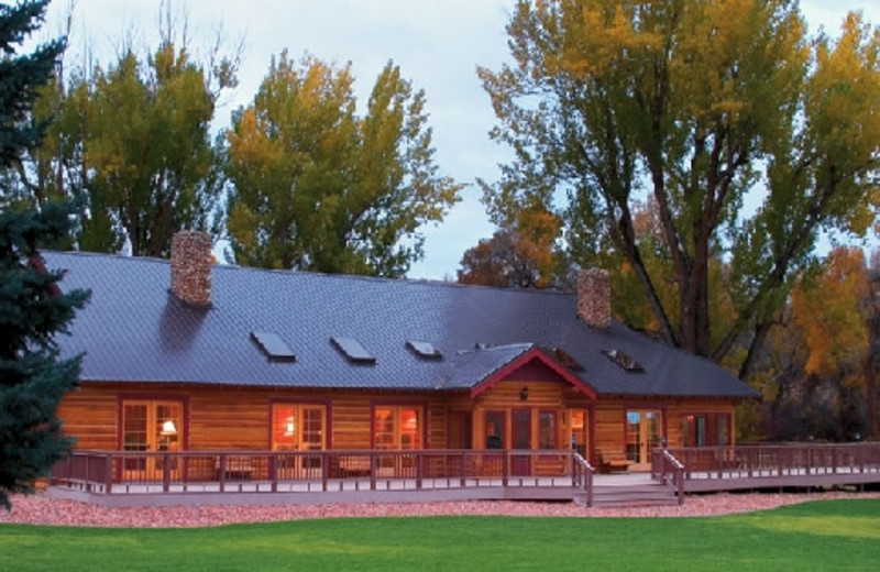 Exterior of The Hideout Lodge & Guest Ranch.