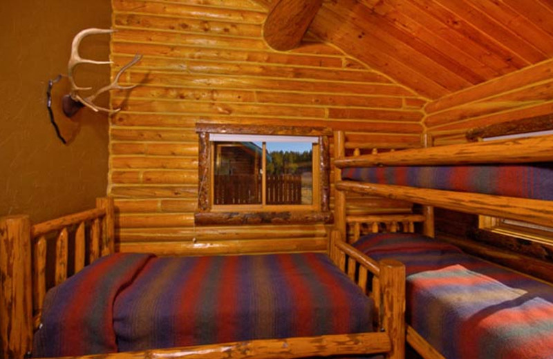 Guest bedroom at Bar N Ranch.