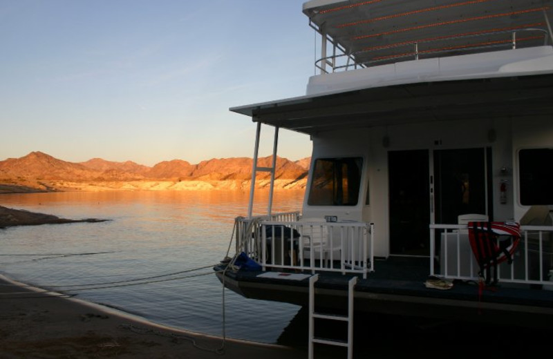 Houseboat exterior view of Callville Bay.