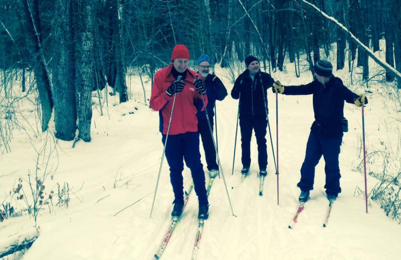Skiing at Buckhorn on Caribou Lake.