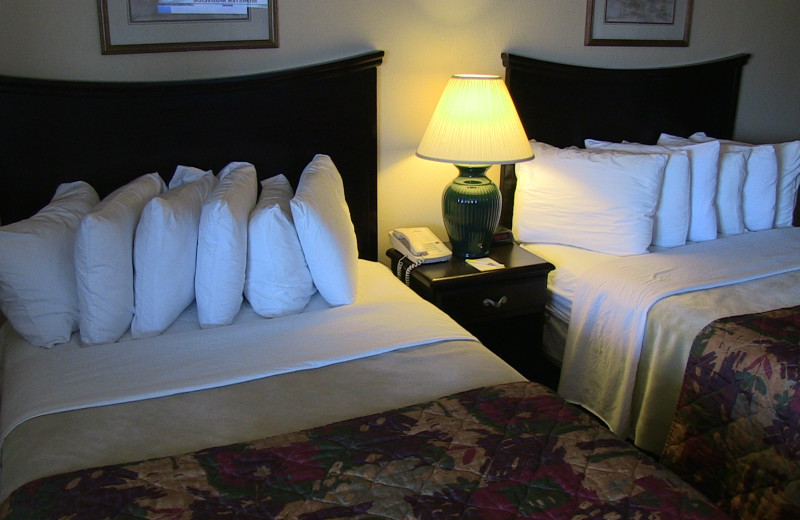 Guest room at @ Michigan Inn and Lodge.