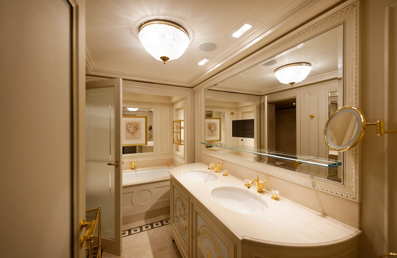 Guest bathroom at Ritz Paris.