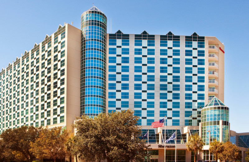 Exterior view of Sheraton Myrtle Beach Convention Center Hotel.