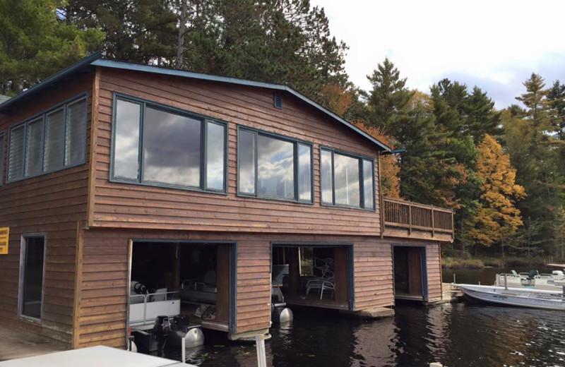 Cabin exterior at Whiplash Lake Resort.