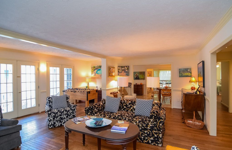 Rental living room at Sandhills Rentals.
