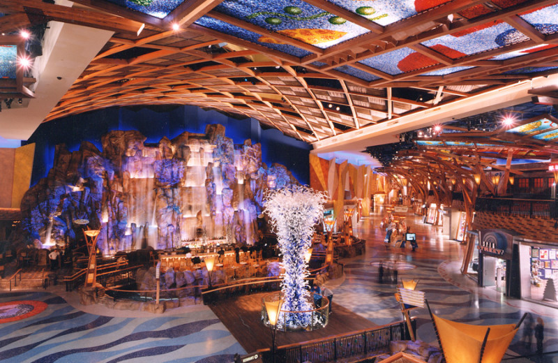 Lobby view at Mohegan Sun.