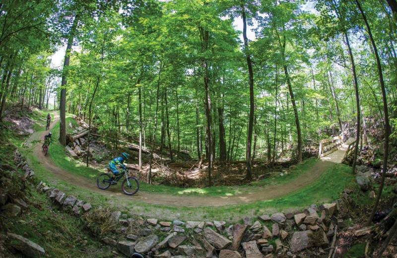 Mountain bike at Mountain Creek Resort.