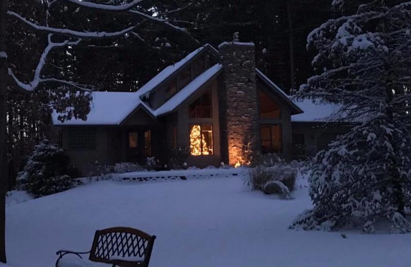 Winter at Acorn Lodge.
