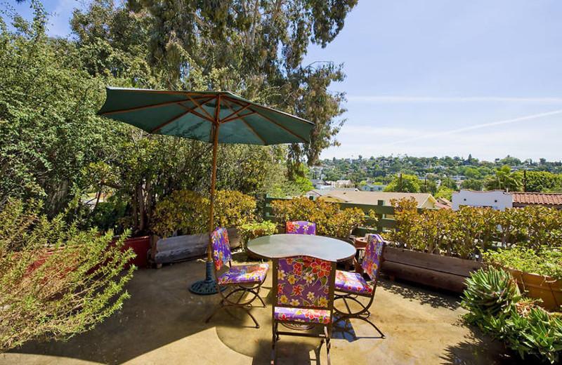 Patio view at Los Feliz Lodge.