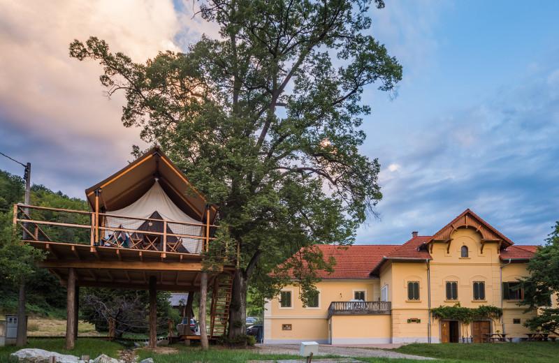 Tree house at Chateau Ramšak Glamping Resort.