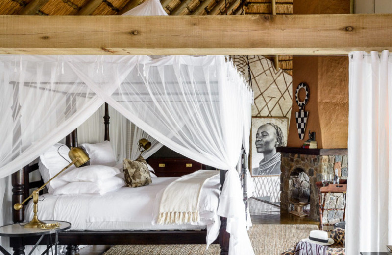Guest room at Singita Ebony Lodge.